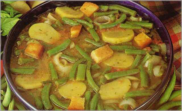 Receta de sopa de jud as verdes receta primer plato for Cocinar judias verdes
