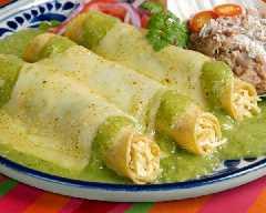 Receta de enchiladas suizas receta aperitivo recetas de for Tipos de encielados